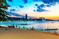 Pattaya beach in the evening Stock Images