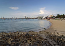 Pattaya. Beach with stones in the foreground Stock Photography