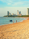 Pattaya beach at sunset Stock Photos