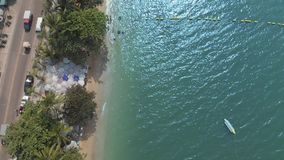 Pattaya Beach on the top view from the hill. Video. Viewpoint offering panoramic views at hilltop scenic lookout point, popular at. Sunset, featuring sweeping stock footage