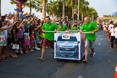PATTAYA BED RACE 2015 Royalty Free Stock Images