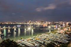Pattaya-Bucht und -strand in Thailand Lizenzfreie Stockbilder