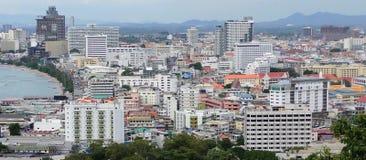 Pattaya-Bucht und Zentrale Pattaya Hotels und Eigentumswohnungen Pattaya Thailand lizenzfreies stockbild