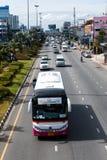 PATTAYA CHONBURI, †de la THAÏLANDE «7 juillet : Le trafic de véhicule de Pattaya Images stock