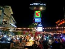 Pattaya Chonburi, Thailand, July 2017 : Nigh market for Thai and foreigners at CentralMarina Pattaya Stock Photo