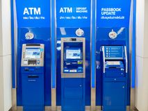 Pattaya, Chonburi /Thailand - July 19, 2018: The TMB Bank ATM in royalty free stock image