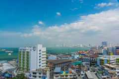 Pattaya city and beach Aerial view Stock Images