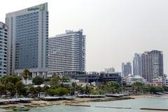 Pattaya city beach with modern hotels Royalty Free Stock Image