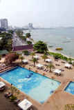 Pattaya city beach with modern hotels Stock Images