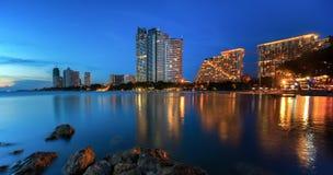 Pattaya City beach and Sea Royalty Free Stock Photos