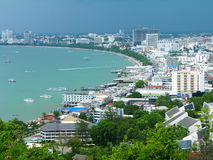 Pattaya city bird eye view, Thailand Royalty Free Stock Photos