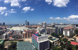 Pattaya city with blue sky Royalty Free Stock Images