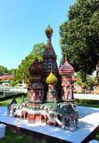 St. Basil Cathedral in Moscow in Mini Siam park royalty free stock photography