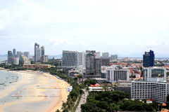 PATTAYA CITY Landscape. PATTAYA CITY AUGUST 1 : Top view of Pattaya city on August 1, 2015 at Pattaya city, Chonburi, Thailand royalty free stock images