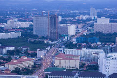 Pattaya city at night. Thailand Stock Image
