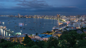 Pattaya city in the night Royalty Free Stock Image