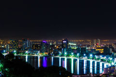 Pattaya city at night Royalty Free Stock Images