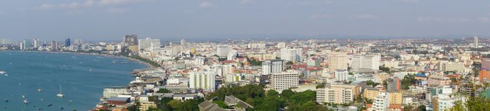 Pattaya city. Panorama of Pattaya Stock Photos