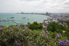 Pattaya city Thailand. Looking from mountain Royalty Free Stock Images