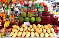 Mangoes on the market stock image