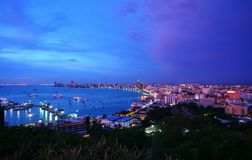 Pattaya City in Thailand. Pattaya City night in Thailand Stock Photography