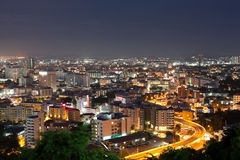 Pattaya city  nigth scape landmark in thailand Royalty Free Stock Photo