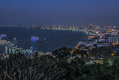 Pattaya city twilight Stock Images
