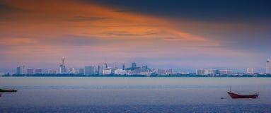 Pattaya City. View form bang salay beach Royalty Free Stock Images