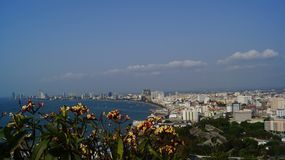 Pattaya city. View point on Pattaya city Royalty Free Stock Photo