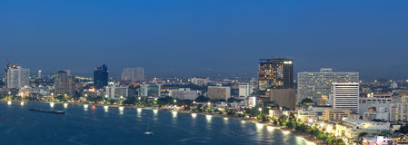 Pattaya cityscape Modern building sea beach side Stock Photography