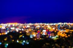 Pattaya cityscape at twilight time Stock Photo