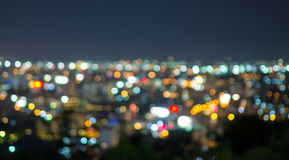 Pattaya cityscape at twilight time, Blurred Photo bokeh Stock Images
