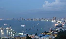 PATTAYA 06 Dec 2014 - Landscape of pattaya city tourism on the e Royalty Free Stock Image