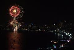 Pattaya fajerwerków Międzynarodowy festiwal Fotografia Stock