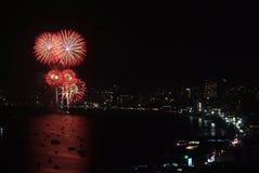 Pattaya fajerwerków Międzynarodowy festiwal Zdjęcia Stock