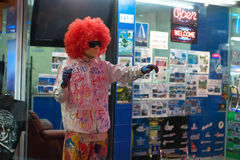 PATTAYA - FEBRUARY 26: Painted mime Royalty Free Stock Images