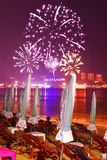 Pattaya fire work Royalty Free Stock Photos