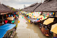 Pattaya Floating Market. Pattaya city floating open air market in the southeast asian country of Thailand Royalty Free Stock Photos