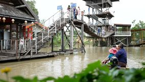 Pattaya Floating Market four regions stock footage