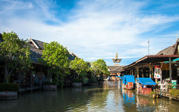 Pattaya : floating market Stock Image