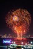 Pattaya fyrverkerifestival 2013 Arkivbild