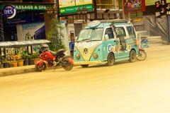Pattaya gata, Asien, Thailand Royaltyfria Bilder
