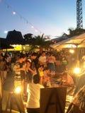 Pattaya het drijven markt stock afbeelding