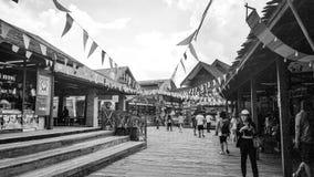 Pattaya het drijven markt Stock Afbeeldingen