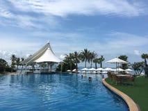 Pattaya hotell från 32floor Arkivbilder