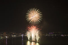 2015 Pattaya International fire work Royalty Free Stock Photos