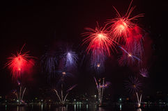 Pattaya International Firework Festival Royalty Free Stock Photos