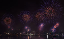 Pattaya International Firework Festival Stock Photo