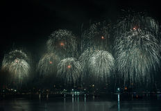 Pattaya International Firework Festival Stock Image