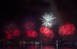 Pattaya International Firework Festival Stock Images